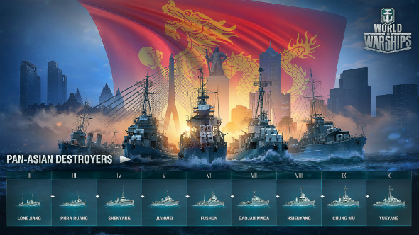 World of Warships Pan-Asia destroyers