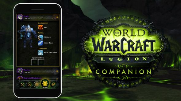 WoW Legion companion app
