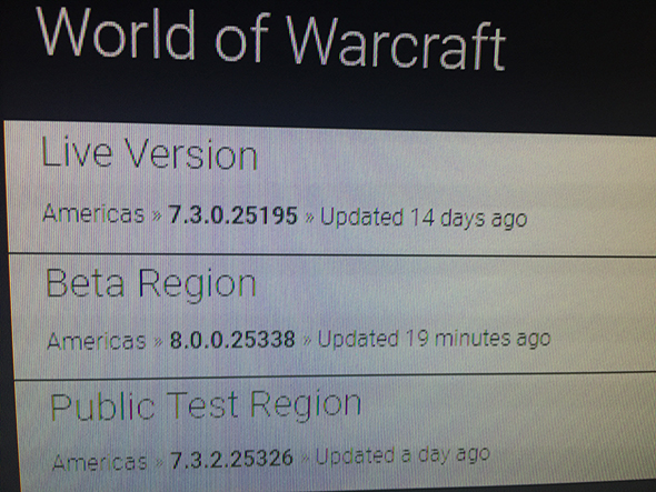 world of warcraft 8.0 beta