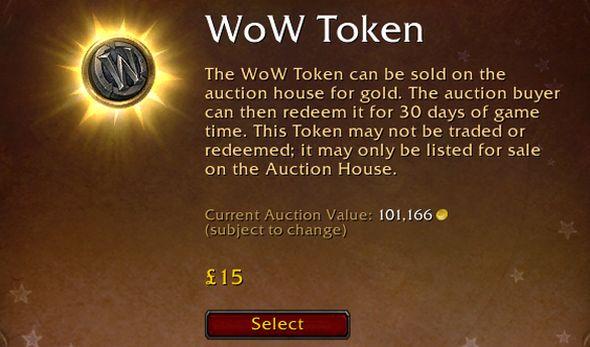 """""""WoW token"""""""