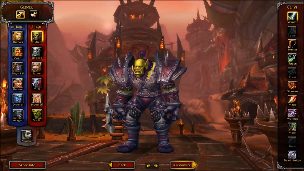 World of Warcraft's handsome new character models in action
