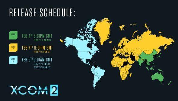 XCOM 2 release times