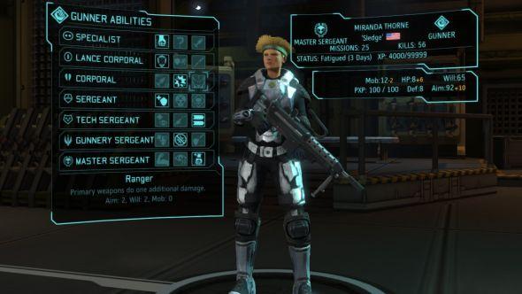 A soldier in XCOM's Long War mod