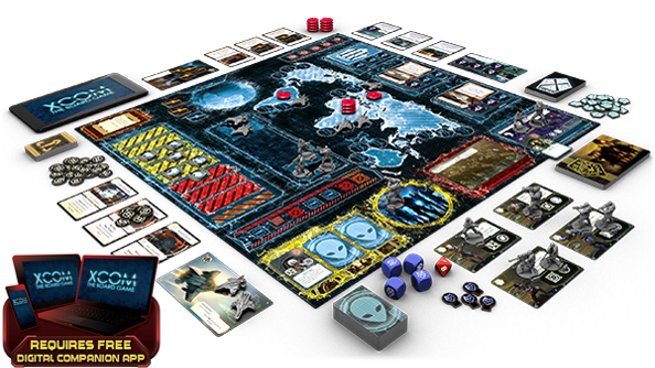 XCOM: The Board Game is a cooperative war against aliens led by a possibly evil companion app